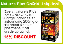 Natures Plus CoQ10 Ubiquinol