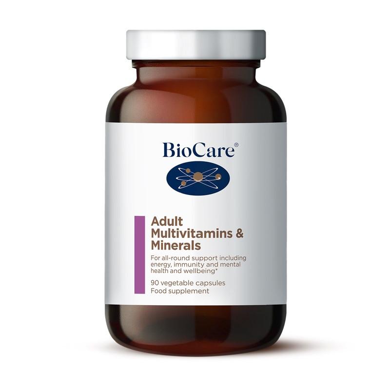 Biocare Adult Multivitamins & Minerals, 90 vegi caps