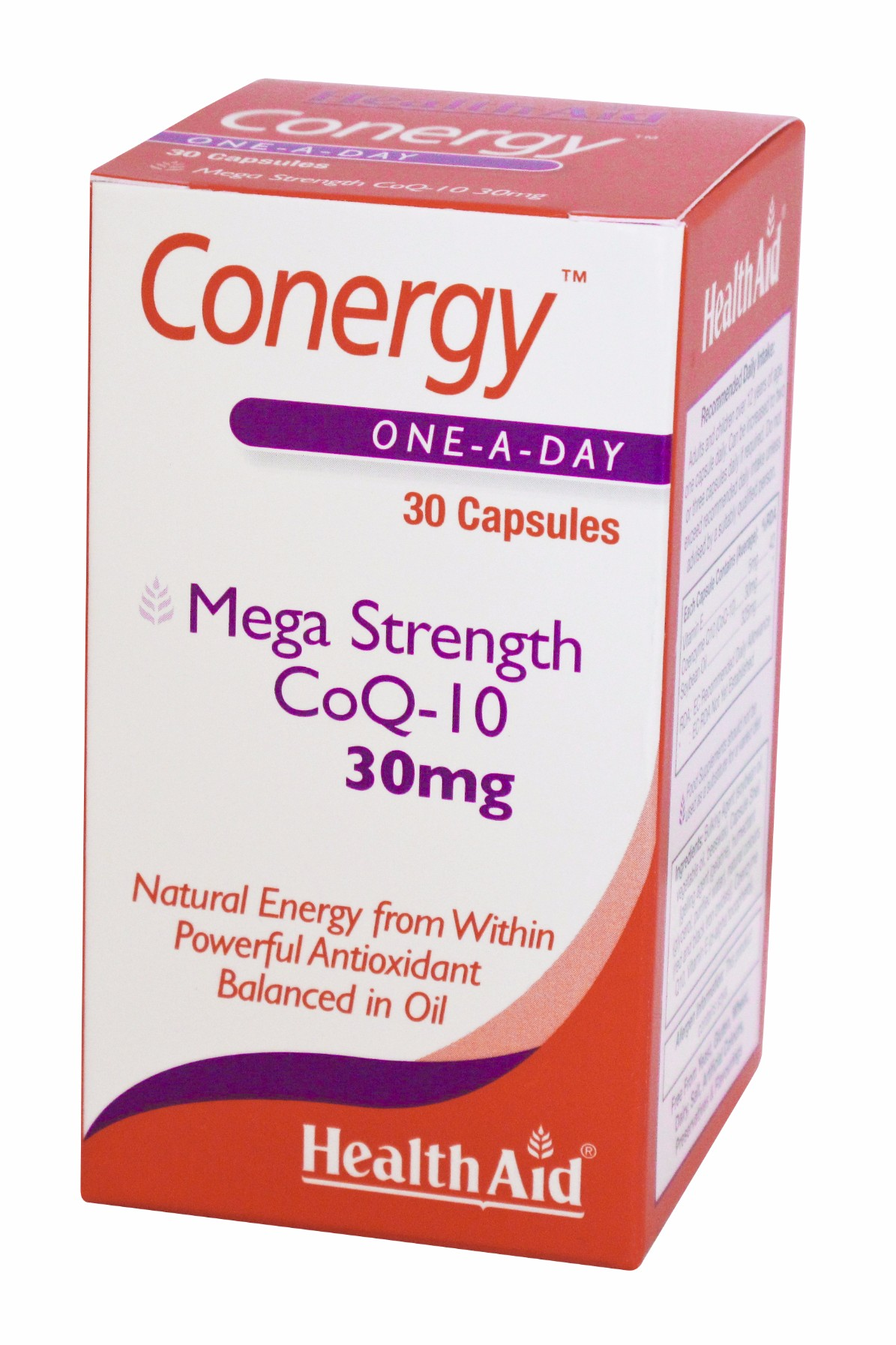 Health Aid Conergy CoQ-10 30mg <br> 30 Capsules
