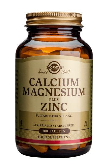 Solgar Calcium Magnesium Plus Zinc Tablets , 100